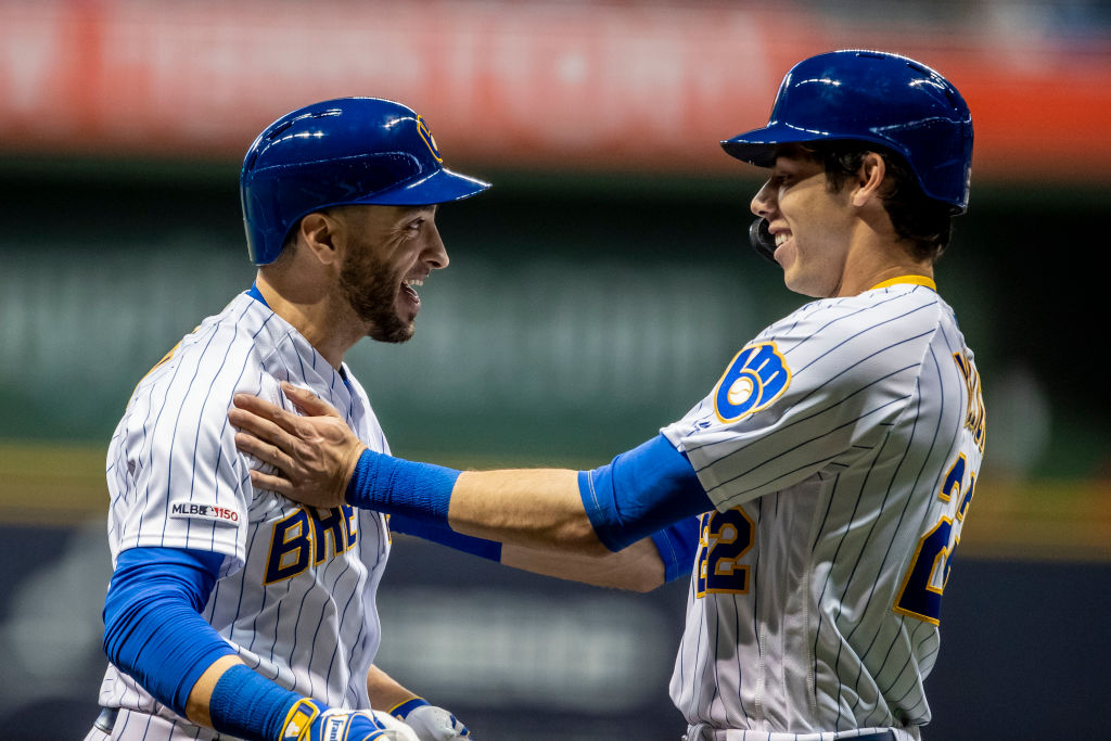The Brewers Ryan Braun (left) honored injured teammate Christian Yelich (right) -- and it was both bad and good.
