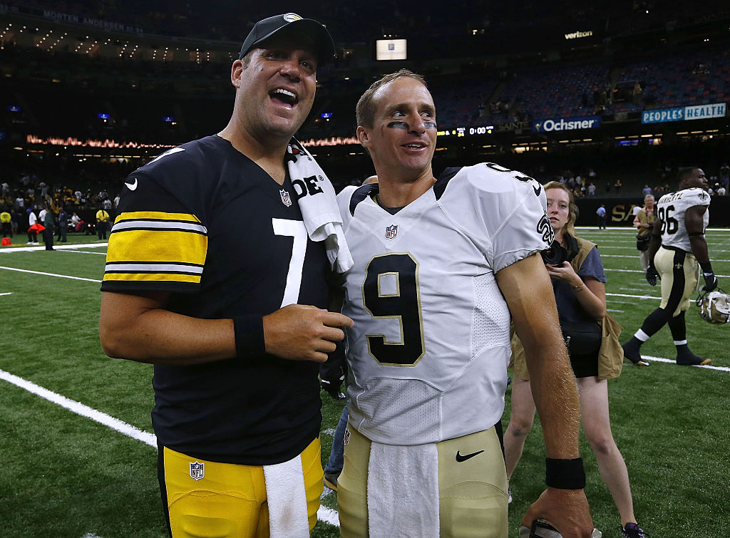 Franchise quarterbacks Ben Roethlisberger (left) and Drew Brees will both miss time for the Steelers and Saints, respectively.