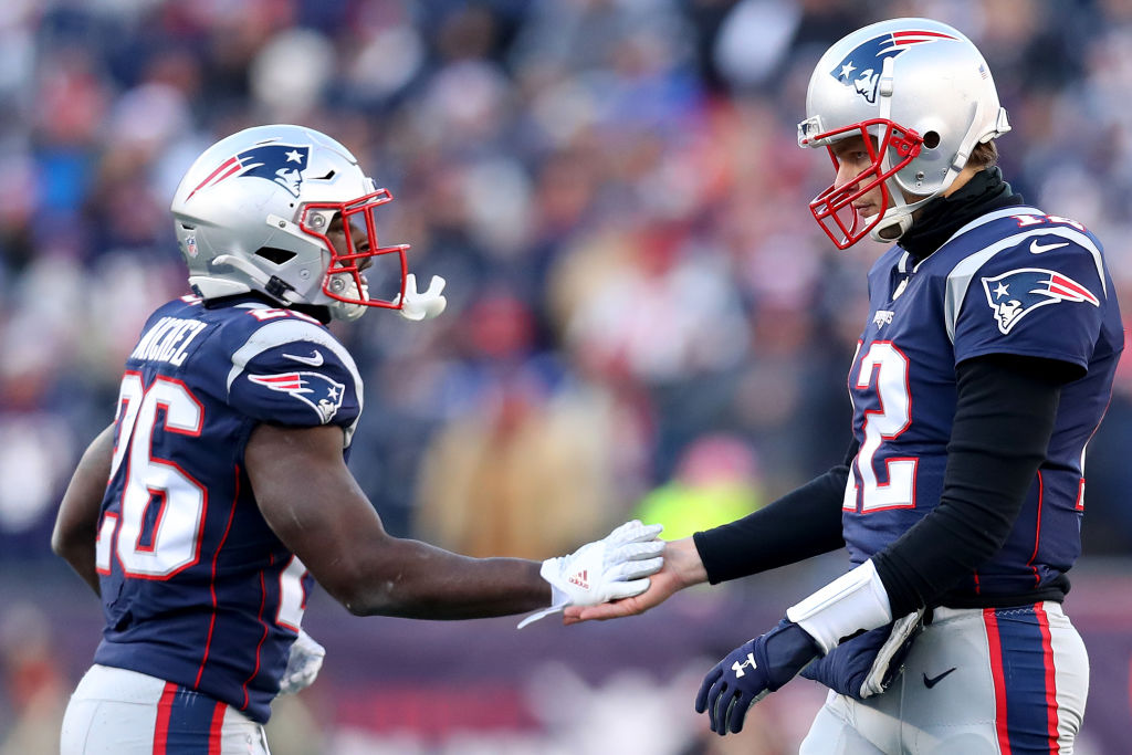 Sony Michel (left) might be the secret weapon for Tom Brady and the Patriots' high-powered offense.