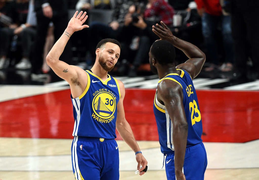 Warriors' All-Stars Stephen Curry and Draymond Green
