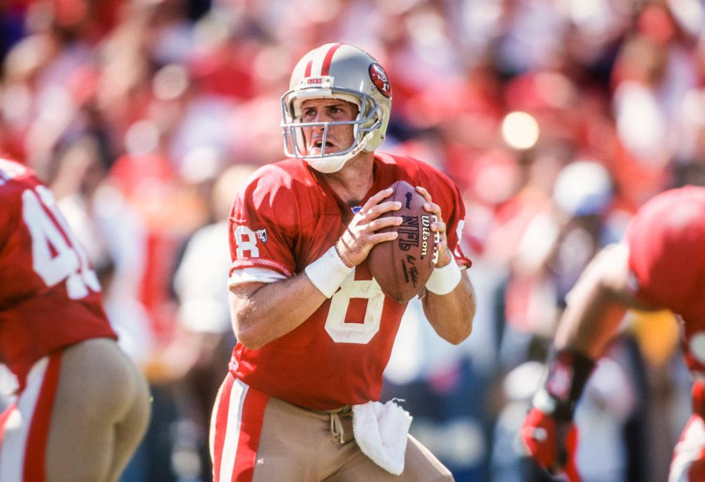San Francisco 49ers' Steve Young