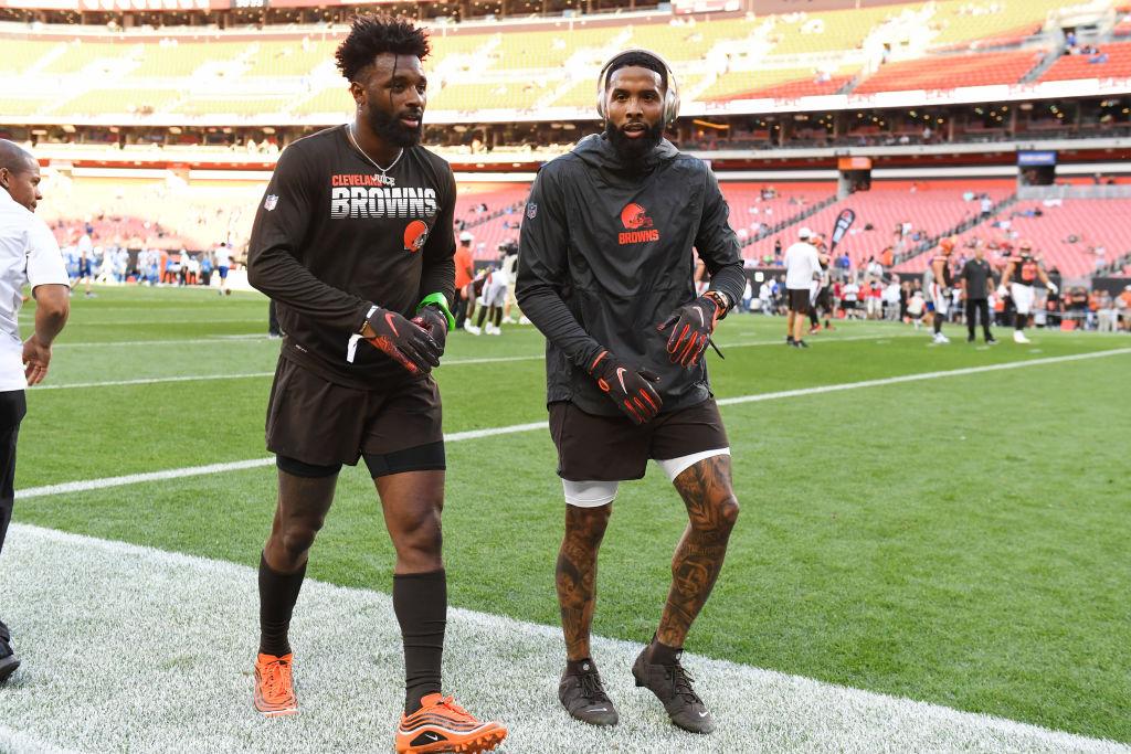Cleveland Browns - Wide receivers Jarvis Landry #80 and Odell Beckham Jr.