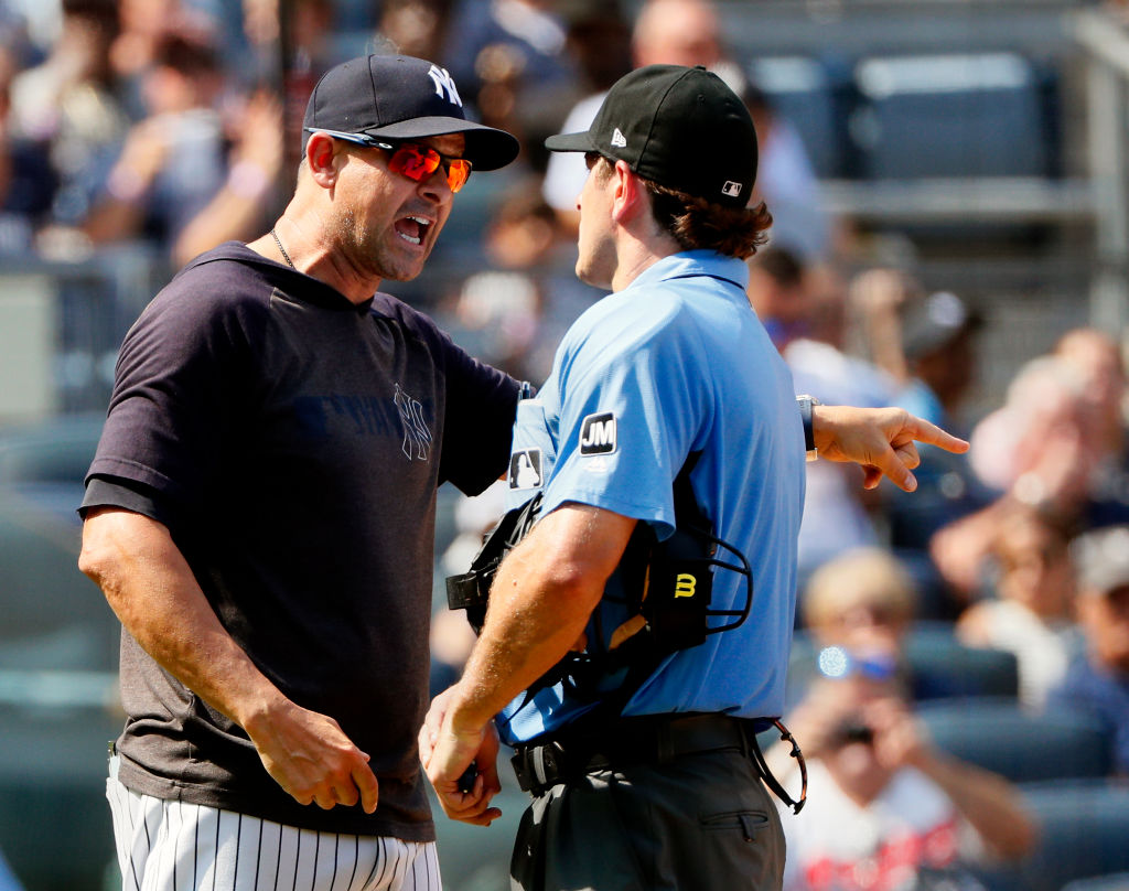 Yankees manager Aaron Boone (left) could set a new record in 2019.