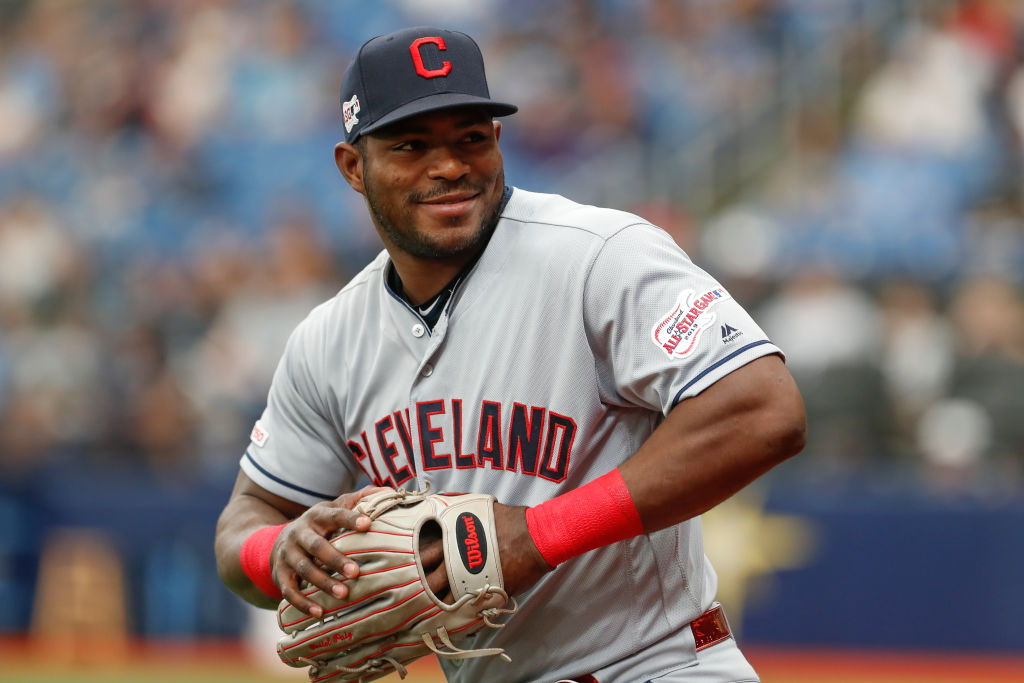 Yasiel Puig served a suspension shortly after his trade from the Reds to the Indians, and he made the most of his down time.
