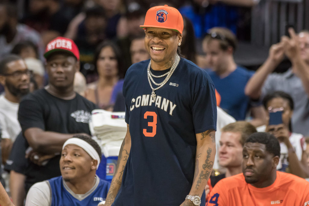 3's Company's head coach Allen Iverson during a BIG3 Basketball league game