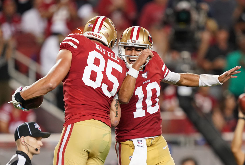 49ers Jimmy Garoppolo and George Kittle