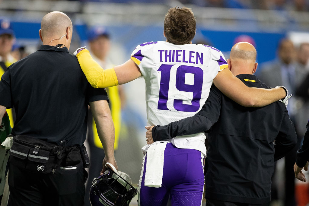 Minnesota Vikings receiver Adam Thielen won't play against the Washington Redskins.