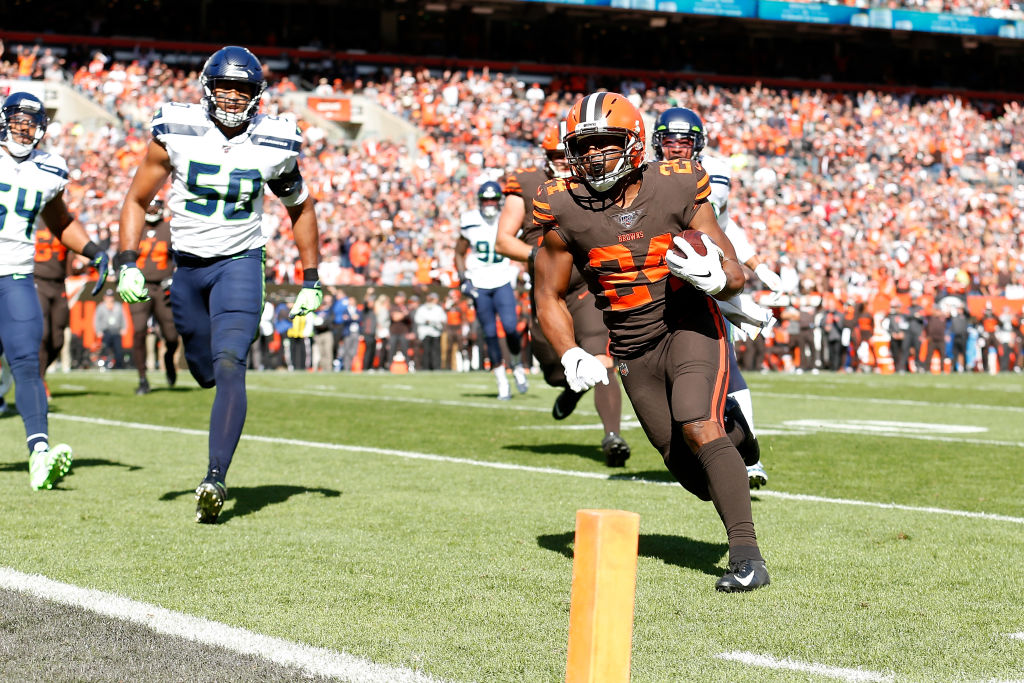 The Browns' Nick Chubb has one of the fastest runs of the 2019 NFL season.