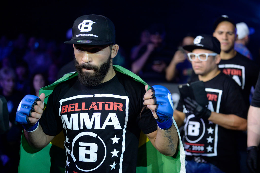 Patricio Freire (left) is one of the best-paid fighters in Bellator, an MMA promotion similar to UFC.