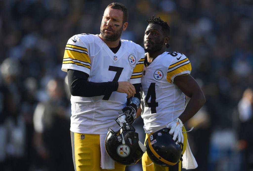Ben Roethlisberger and Antonio Brown linked up as Pittsburgh Steelers teammates.