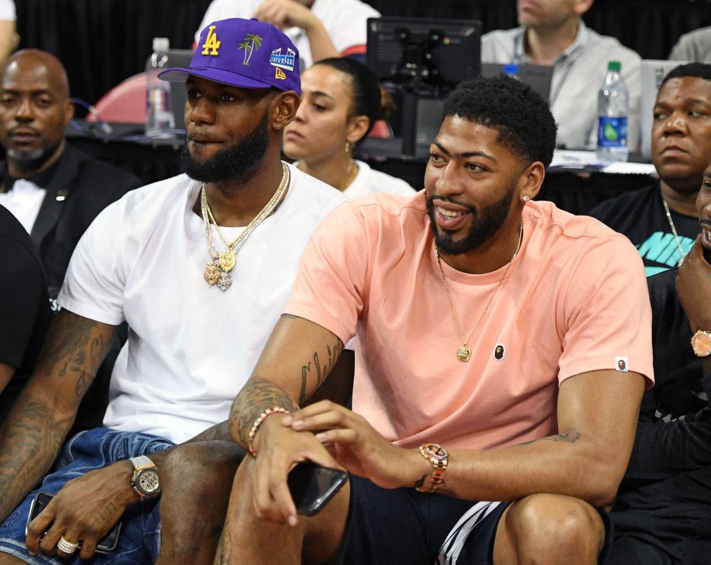 Lakers forwards LeBron James and Anthony Davis