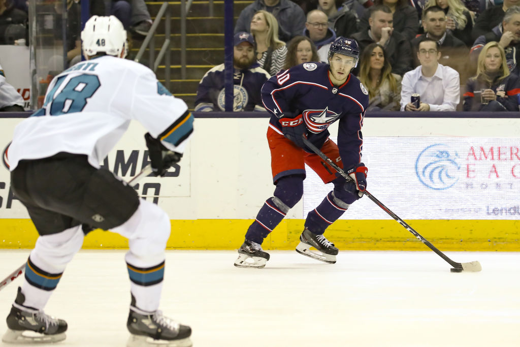 Alexander Wennberg of the Columbus Blue Jackets is one of the most accurate passers in the NHL.