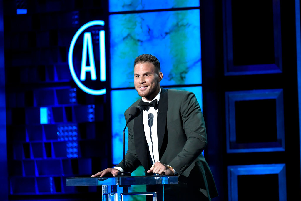 Blake Griffin during a Comedy Central Roast show