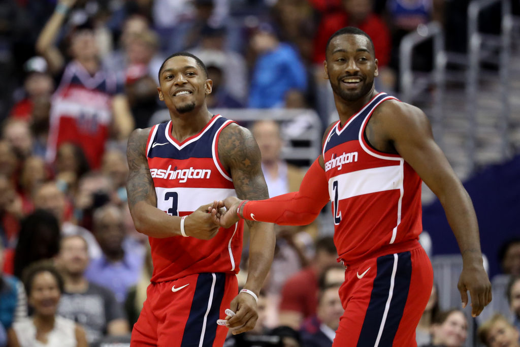Wizards guards Bradley Beal and John Wall
