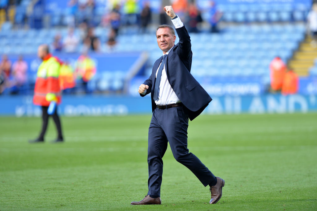 Brendan Rodgers leads his Leicester City squad into Anfield looking for a big Premier League win.