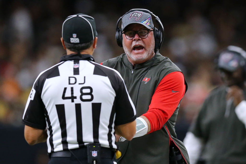 The Tampa Buccaneers have a referee on their coaching staff to clarify NFL rules.