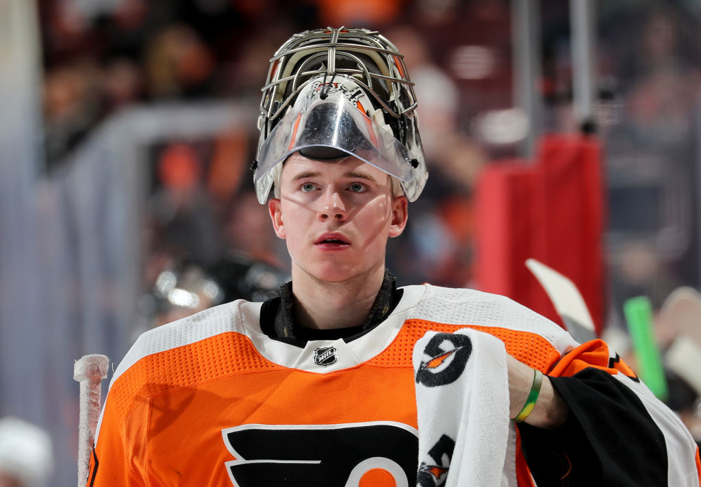 Philadelphia Flyers' goalie Carter Hart