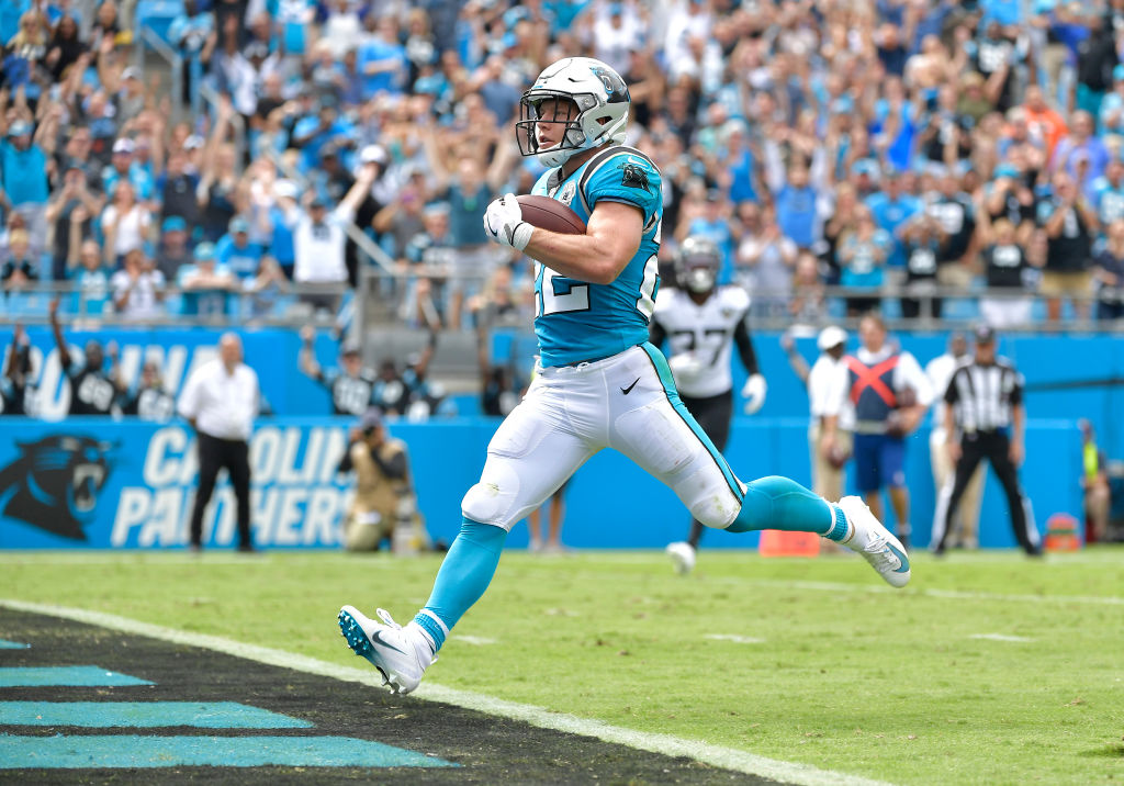 Carolina Panthers running back Christian McCaffrey is an NFL MVP candidate.