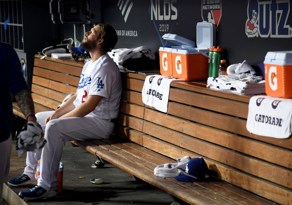 Clayton Kershaw sits in solitude after allowing back-to-back home runs