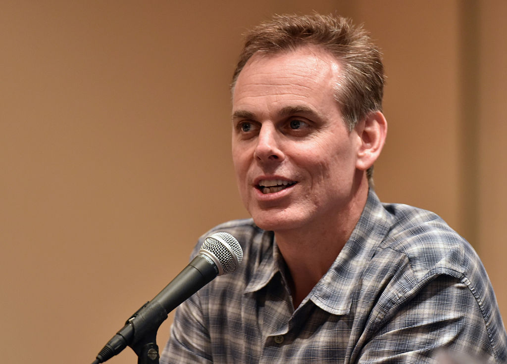 Radio host Collin Cowherd giving an interview.
