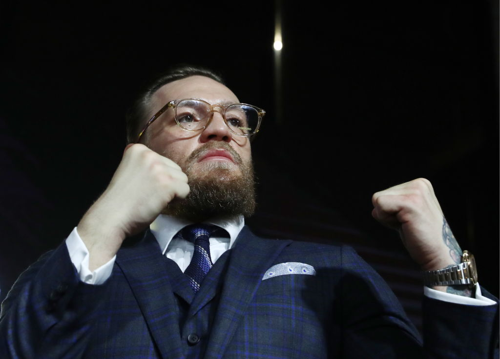 Conor McGregor (pictured) and Frankie Edgar are down to fight in a UFC bout, but it probably won't happen anytime soon.