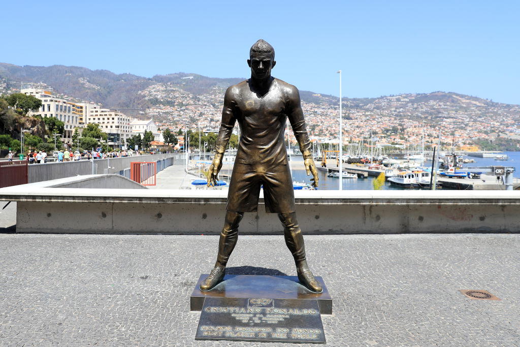 Both Cristiano Ronaldo and Zlatan Ibrahimovic are honored with unusual statues.