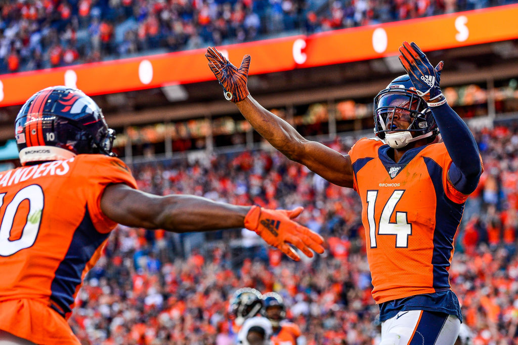 Broncos wide receiver Courtland Sutton