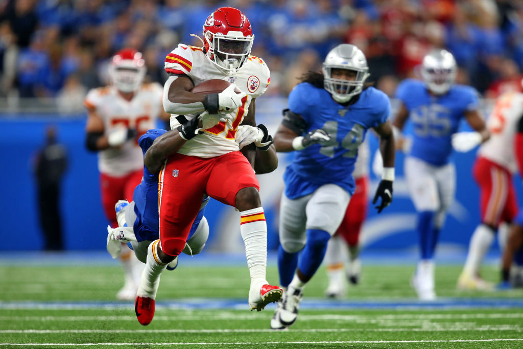 Chiefs running back Darrel Williams