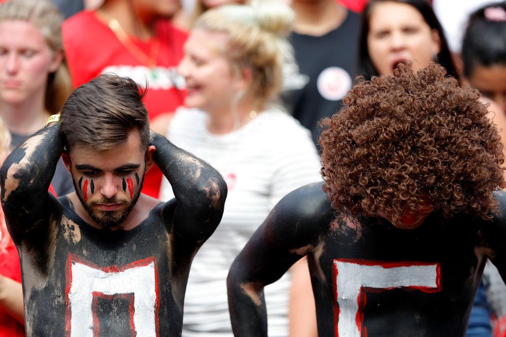 Fans of the Georgia Bulldogs