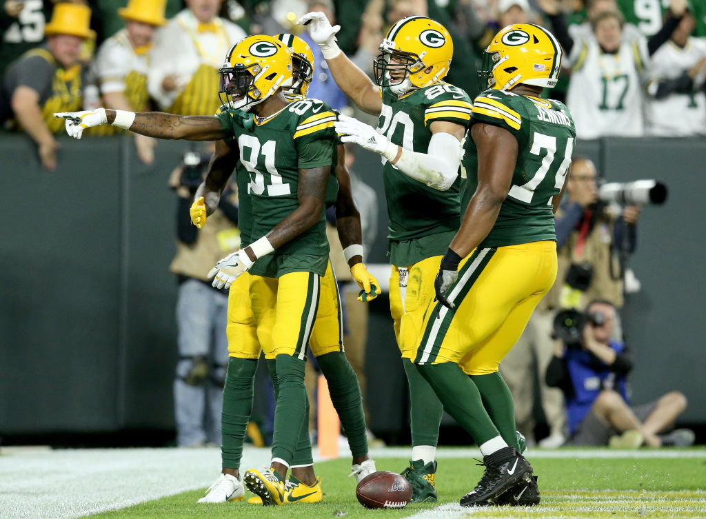 Packers wide receiver Geronimo Allison