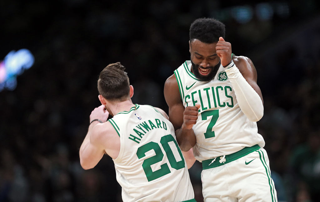 Celtics guard Gordon Hayward believes Jaylen Brown is worth every penny of his big contract extension.