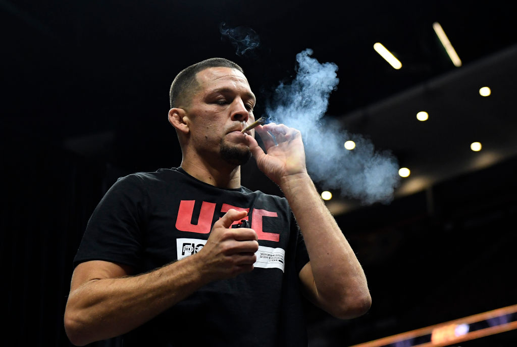 Greg Hardy and his inhaler were and Nate Diaz and his love for marijuana were at the center of UFC controversies.