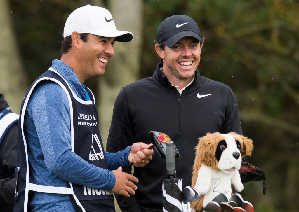 Harry Diamond and Rory McIlroy during the 2019 Alfred Dunhill Links Championship