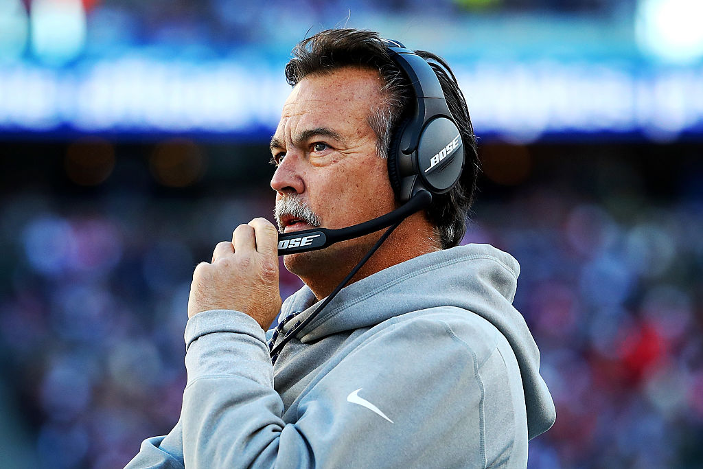 Head coach Jeff Fisher of the Los Angeles Rams