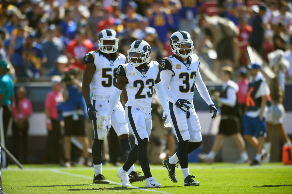 Rams defensive backs Eric Weddle and Nickell Robey-Coleman and linebacker Corey Littleton