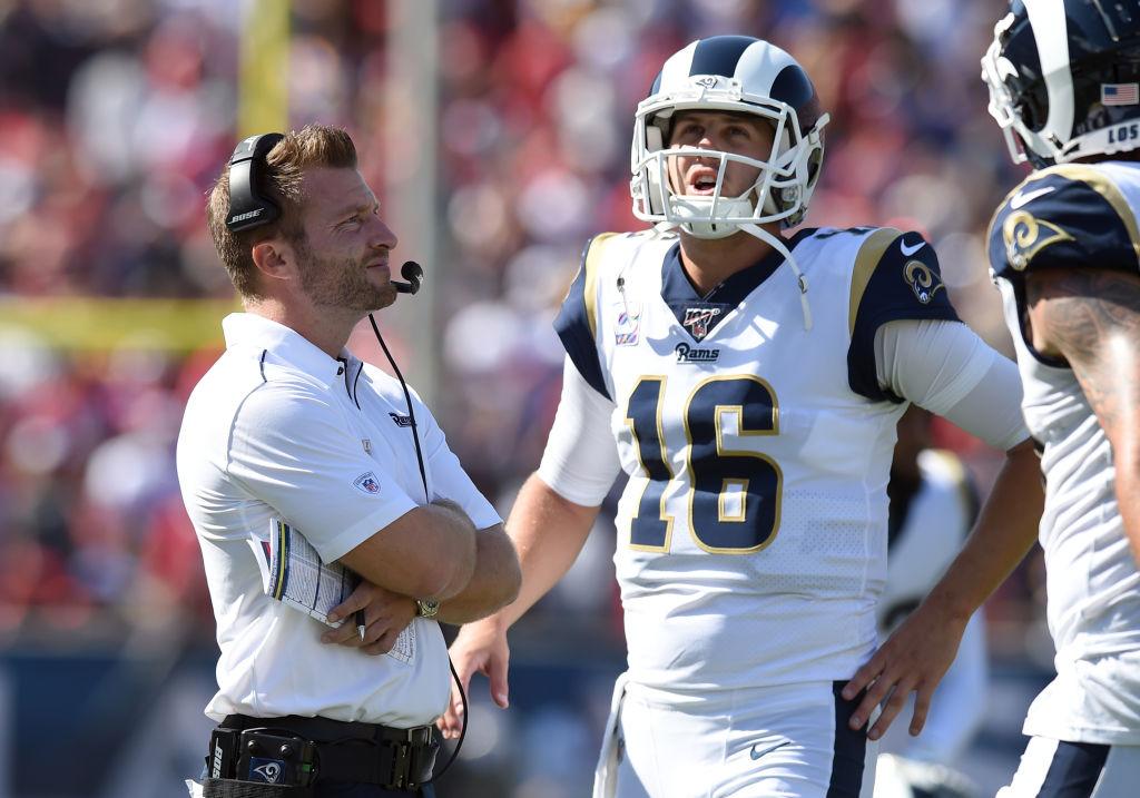 Rams quarterback Jared Goff