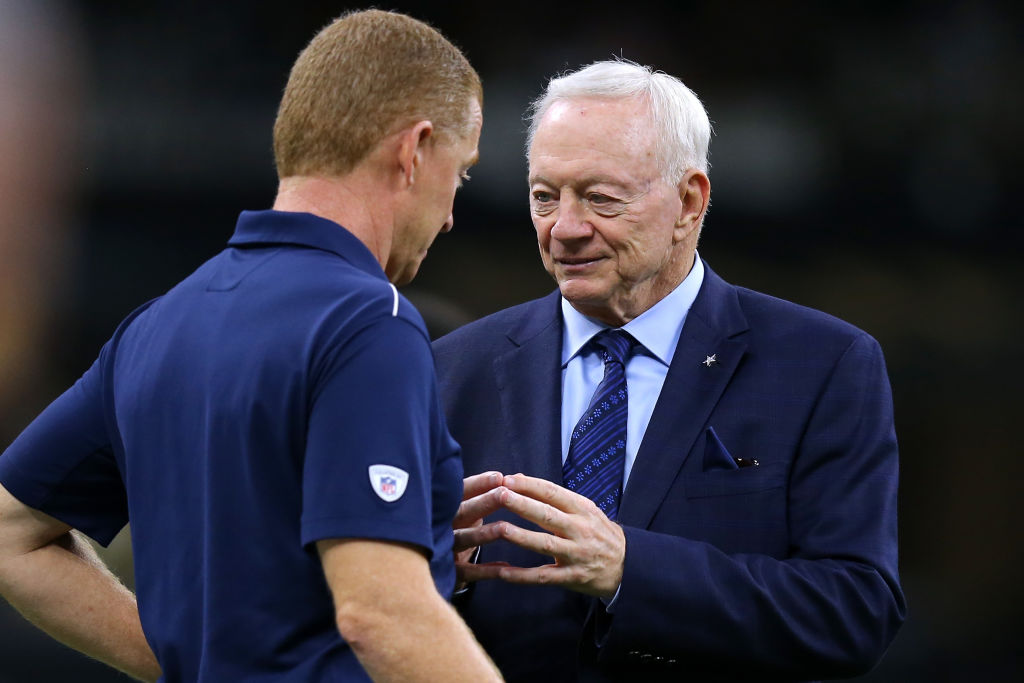 Cowboys owner Jerry Jones and head coach Jason Garrett