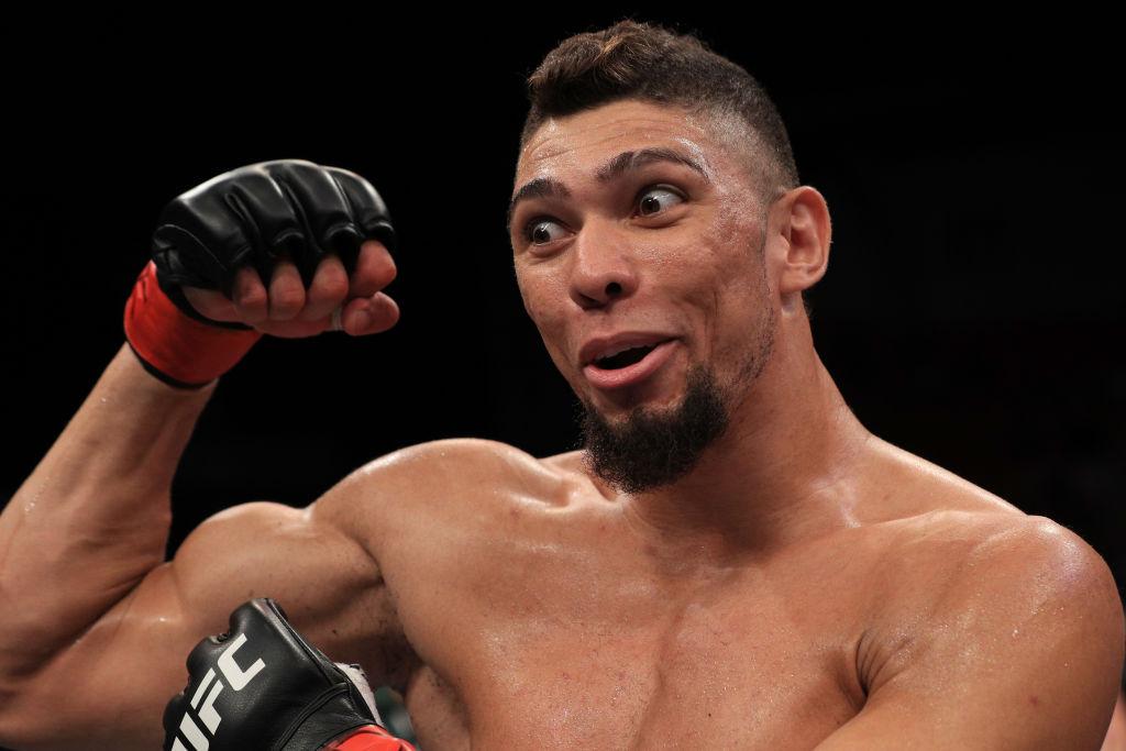 UFC 244 fighter Johnny Walker celebrates after a win.