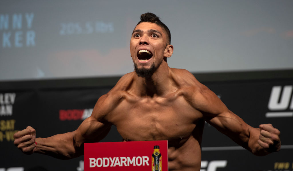 UFC fighter Johnny Walker at the UFC 235 weigh ins.