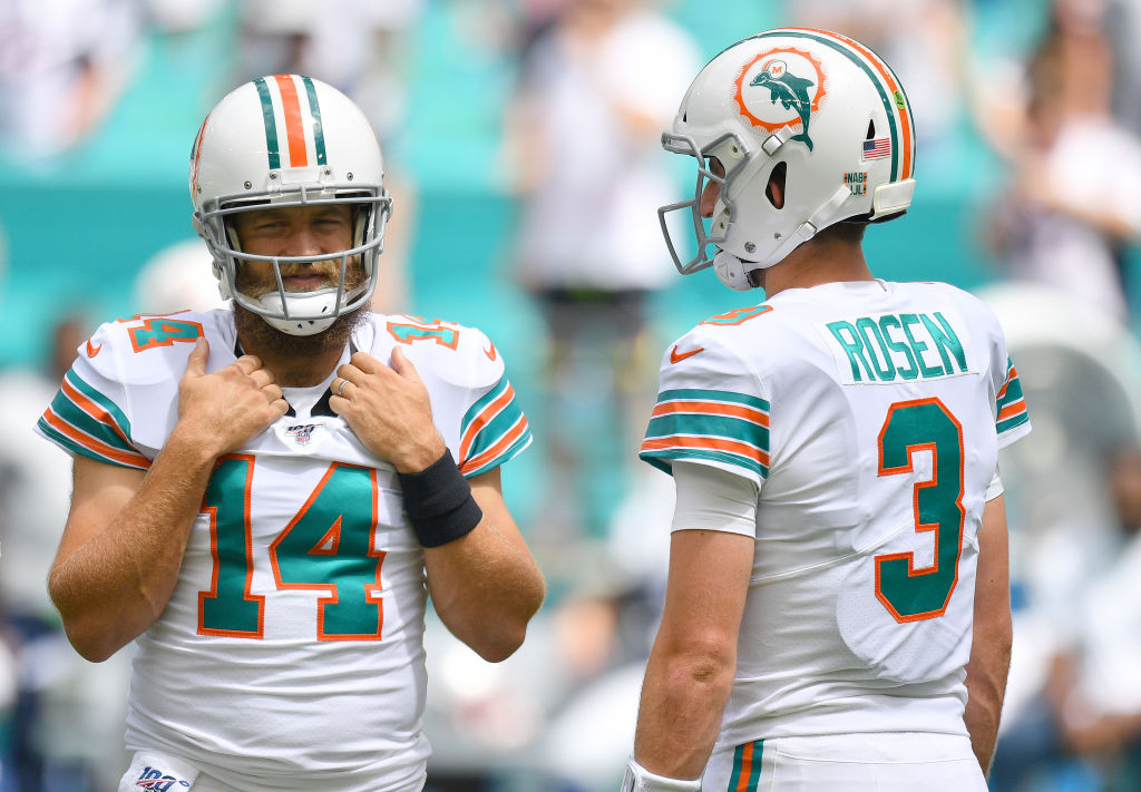 The Miami Dolphins will start Ryan Fitzpatrick on Sunday against the Buffalo Bills.