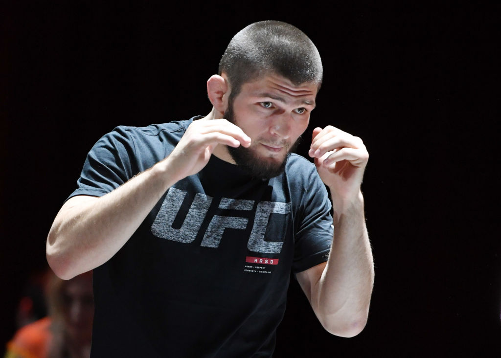 UFC fighter Khabib Nurmagomedov puts everyone else's training regimen to shame.
