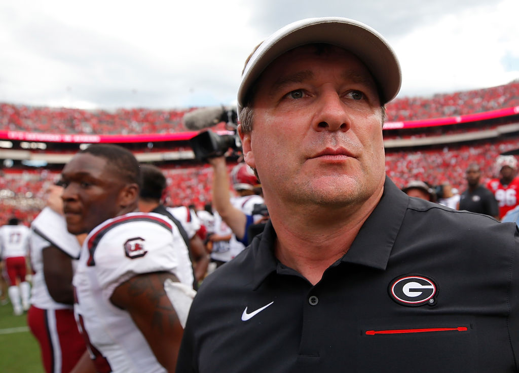 Head coach Kirby Smart of the Georgia Bulldogs was left dumbfounded by this upset