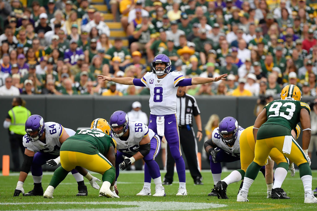 Vikings quarterback Kirk Cousins