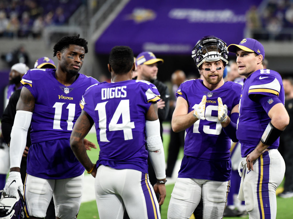 Vikings Kirk Cousins and Adam Thielen
