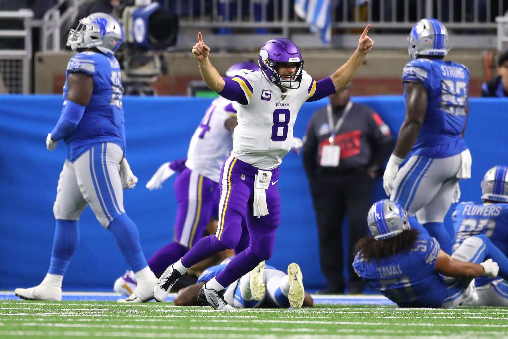 Minnesota Vikings quarterback Kirk Cousins made NFL history on Sunday.