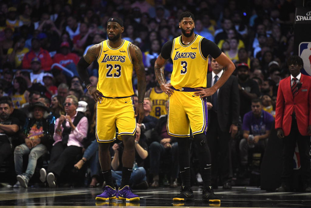 Kendrick Perkins played a part in bringing LeBron James (left) and Anthony Davis (right) together, and Lakers fans should thank him.