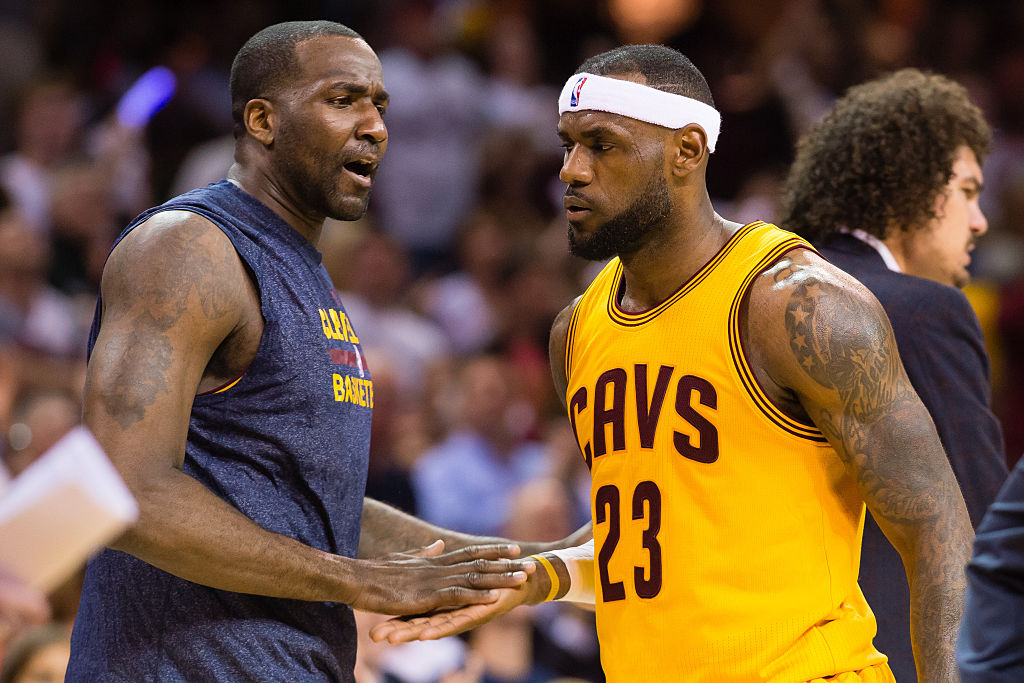 Kendrick Perkins (left) played a part in bringing LeBron James and Anthony Davis together, and Lakers fans should thank him.