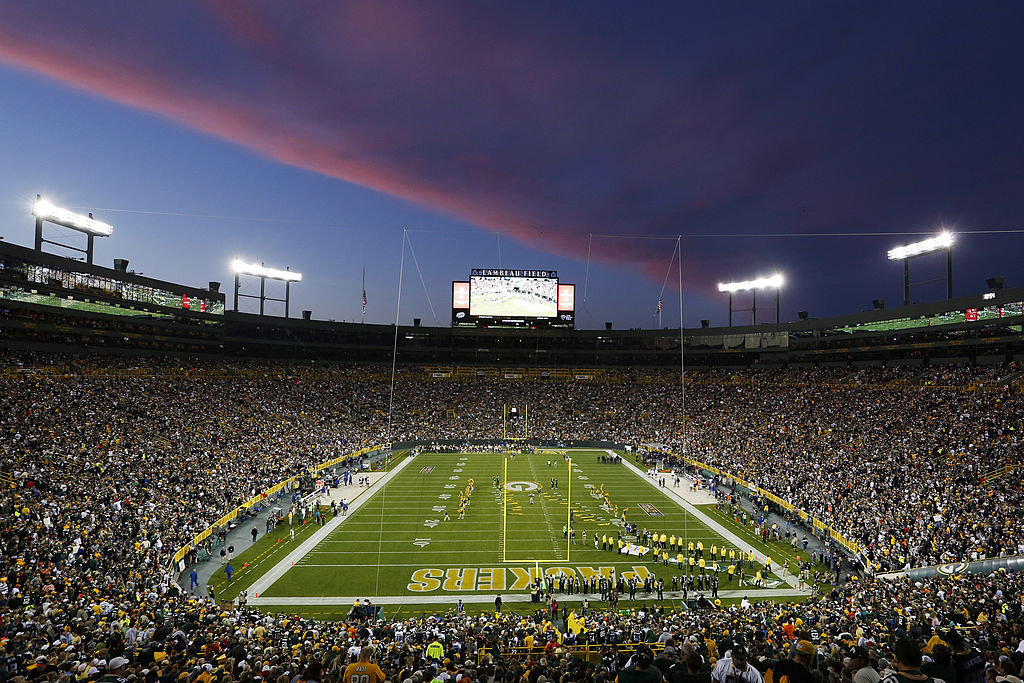 General view of Lambeau Field between the Green Bay Packers and Chicago Bears