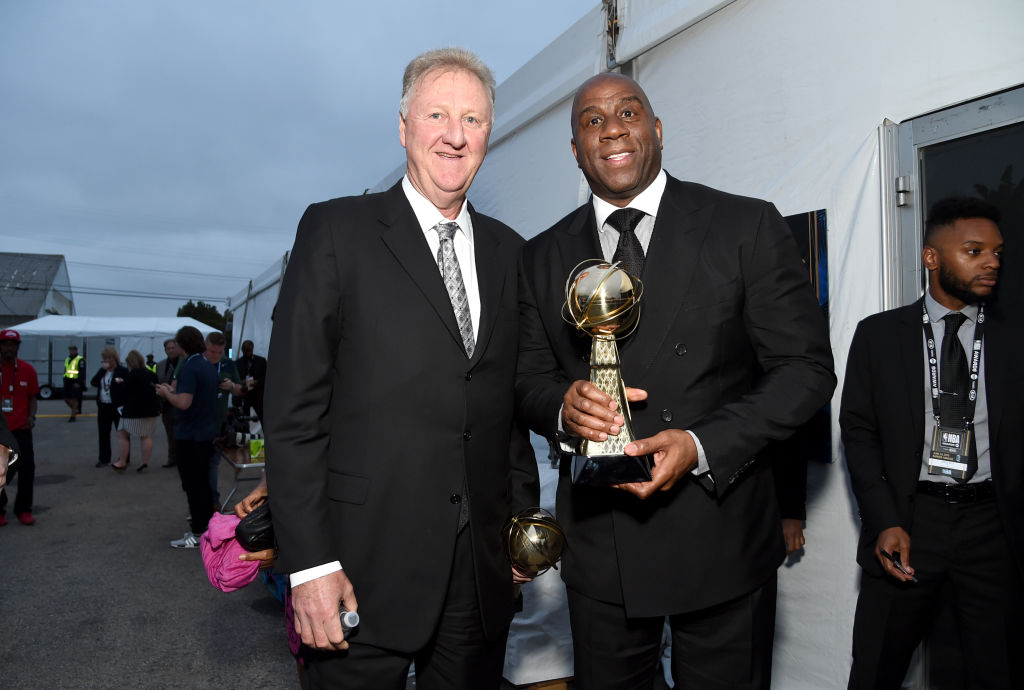 Larry Bird and Magic Johnson receive the 2019 Lifetime Achievement Award