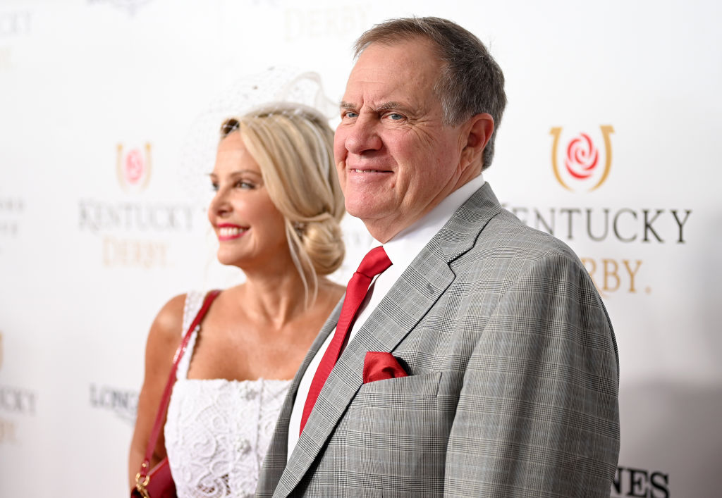 Linda Holliday and Bill Belichick attend the 145th Kentucky Derby at Churchill Downs